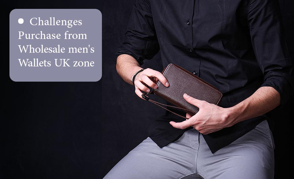 Challenges purchase from wholesale men's wallets UK zone